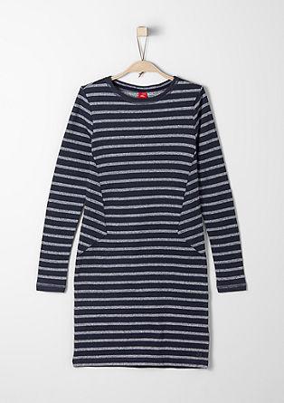 Korte gestreepte jurk