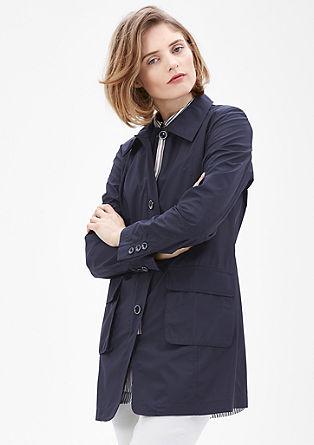 Korte mantel van blouseachtige stof