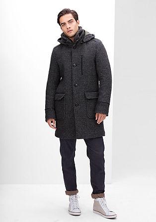 Korte mantel van Italiaanse wol