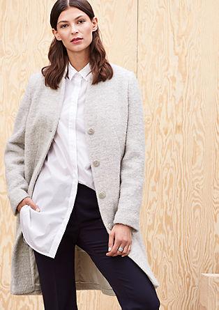 Korte mantel van wol met alpaca
