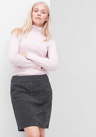 Korte rok met een wollen look