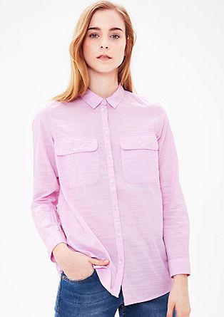 Košilová halenka s tkanou strukturou