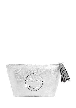 Kozmetična torbica v kovinskem videzu