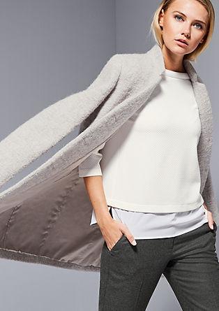 Kratek plašč iz volne z alpako