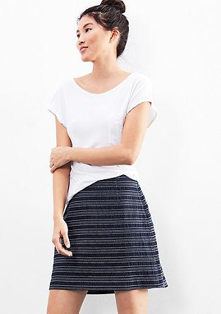 krátká džínová sukně se vzorem