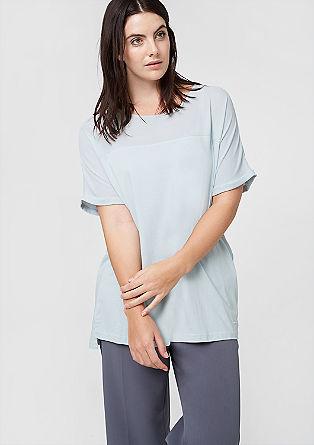 Kratka majica iz mešanice materialov