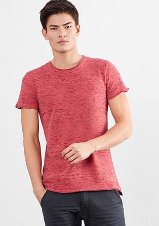 Kratka majica s strukturo plamenaste preje