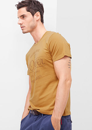 Kratka majica z logotipom v vintage videzu