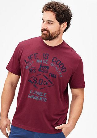 Kratka majica z obrabljenim potiskom