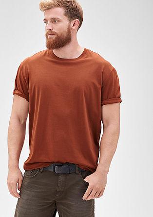 Kratka majica z okroglim izrezom