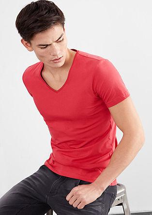 Kratka majica z V-izrezom