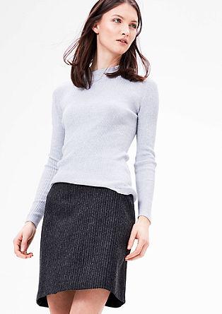 Krátká sukně z vlněné směsi