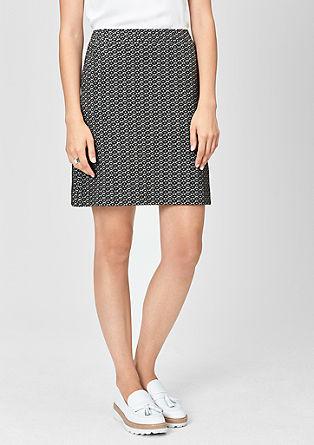 Krátká žakárová sukně