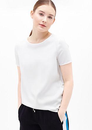 Krepasta bluza s kontrasti