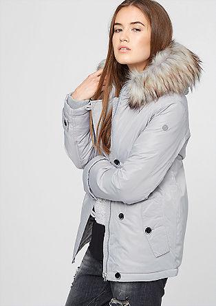 Kurz-Parka mir Fake Fur-Besatz