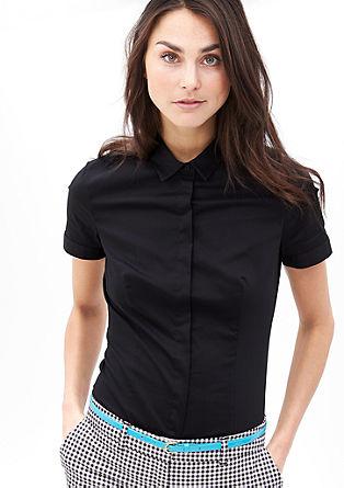 Kurzärmlige Stretch-Bluse