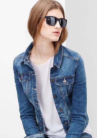 Kurze Jeansjacke aus Used-Denim
