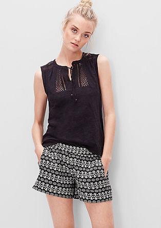 Kurze Shorts mit Jacquard-Muster