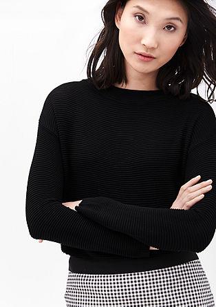 Kurzer Struktur-Pullover