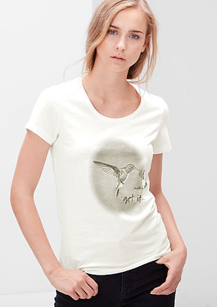 Label-Shirt mit Kolibri