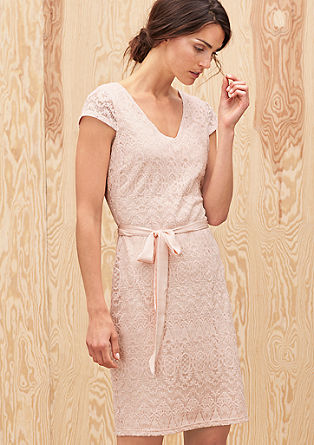 Lace dress with a tie belt from s.Oliver
