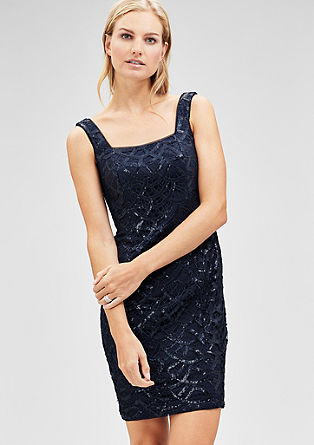 Lace dress with sequins from s.Oliver