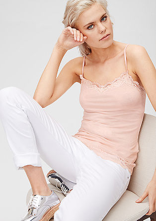 Lace top with a wash effect from s.Oliver