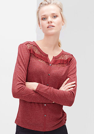 Lace top with buttons from s.Oliver