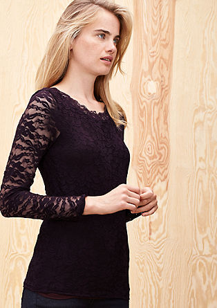 Lace top with long sleeves from s.Oliver