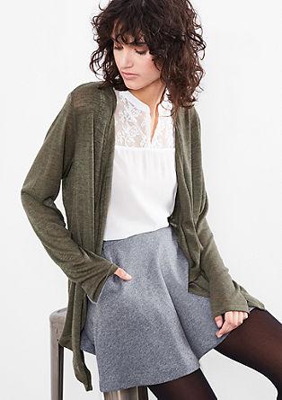 Lässige Jacke aus Slub Yarn