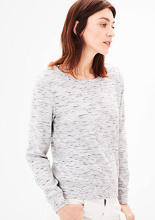 Lässiger Sweater in Melange-Optik