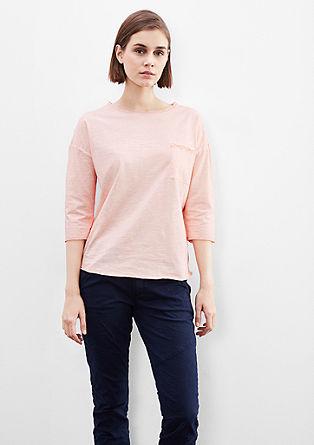 Lässiges Cold Pigment Dye-Shirt