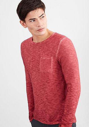 Lahek, barvno pran pleten pulover