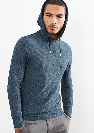 Lahek pleten pulover s kapuco