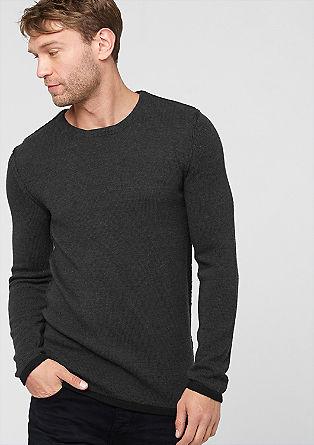 Lahek pleten pulover z volno alpake