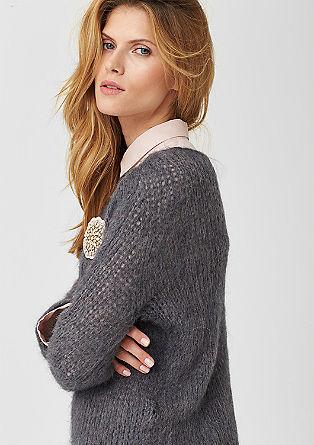 Lahek pulover z moherjem