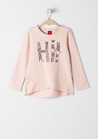 Lahek sweatshirt pulover s čopki