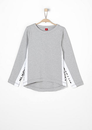 Lahek sweatshirt pulover s sporočilom