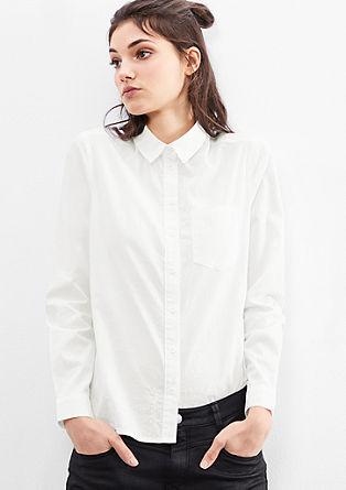 Lahka bluza s tkano strukturo