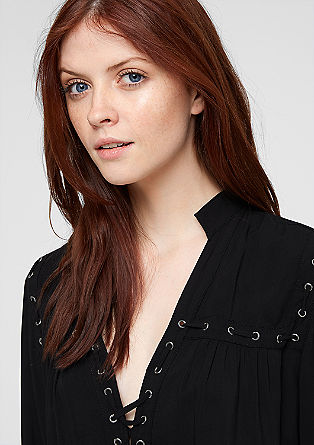 Lahka bluza z vrvico