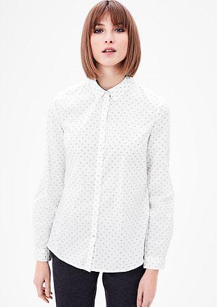 Lahka bluza z vzorčastim potiskom