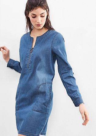 Lahka jeans obleka v slogu tunike