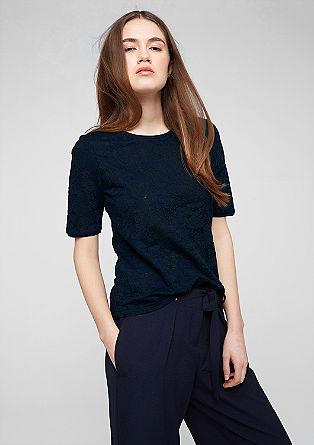 Lahka majica z žakardskim vzorcem