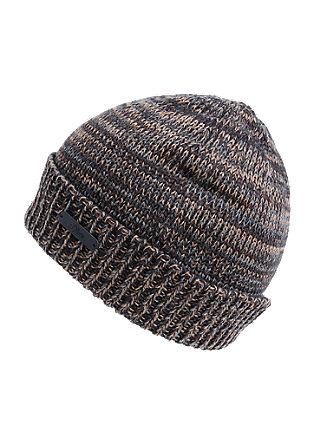 Lahka pletena kapa z učinkom melange