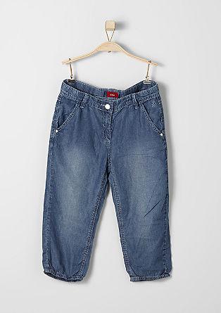 Lahke 3/4 hlače v videzu jeansa