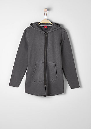 Laid-back sweatshirt jacket with a hood from s.Oliver