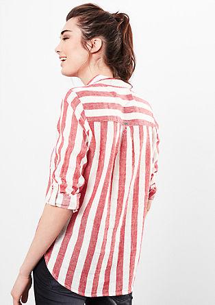 Lanena bluza s črtami