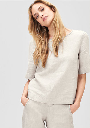 Lanena bluza škatlastega kroja