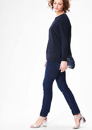 Lang shirt in laagjeslook