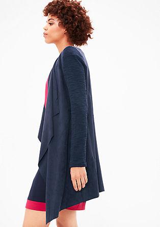 Lang vest in suèdelook